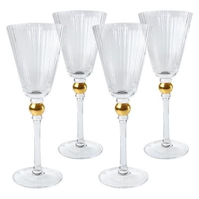 Artland 9oz 4pk Jewel Gold Lining Sherry Glasses