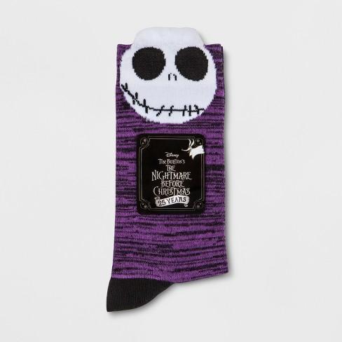 womens disney nightmare before christmas crew casual socks purple 9 11 target