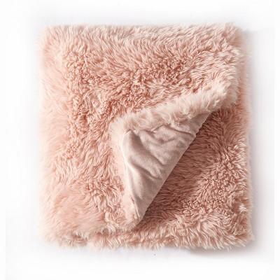 "LILY NY Luxury Plush Shaggy Fuzzy Fluffy Faux fur Throw Blanket-50""x60"""