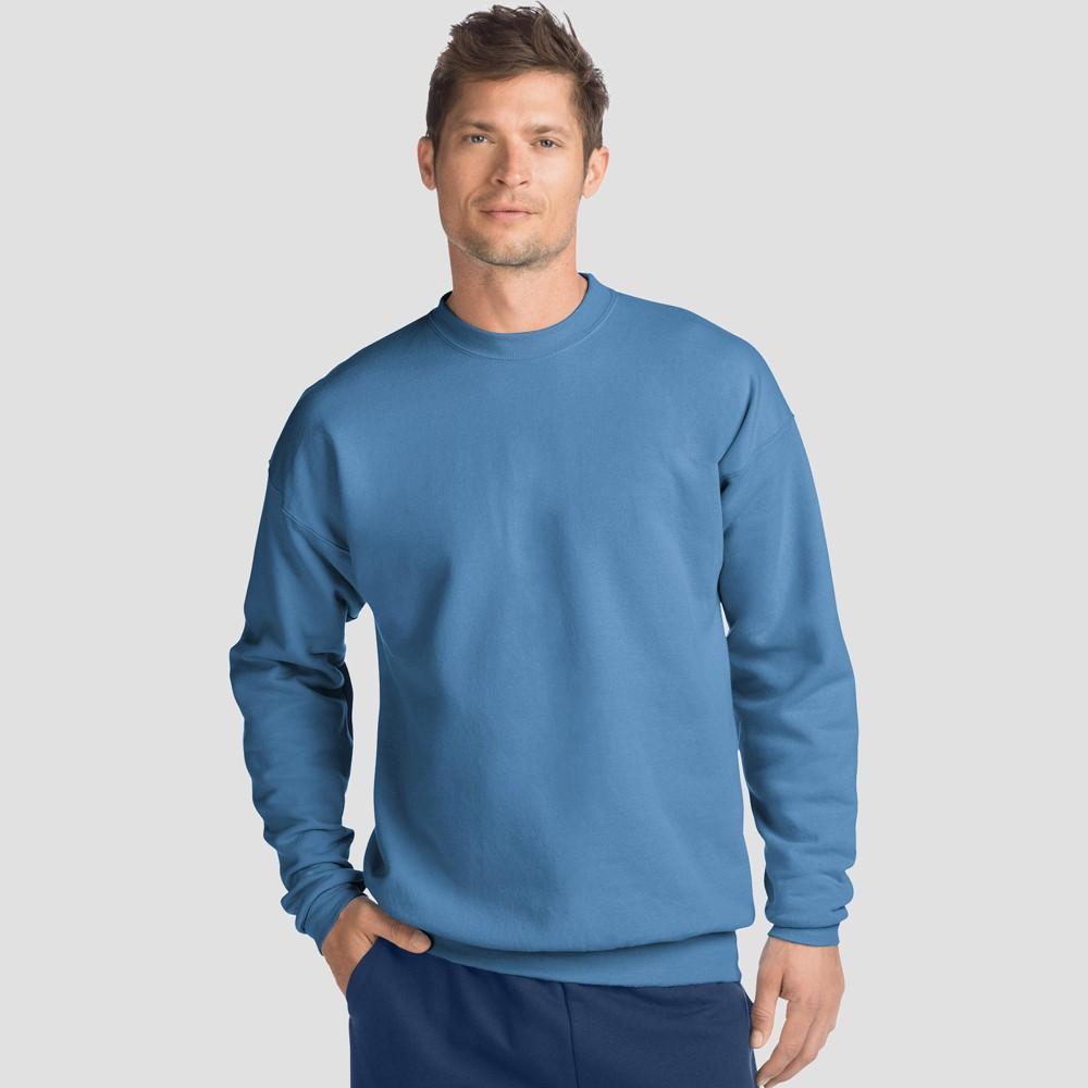 Hanes Men's EcoSmart Fleece Crew Neck Sweatshirt - Denim Blue 2XL