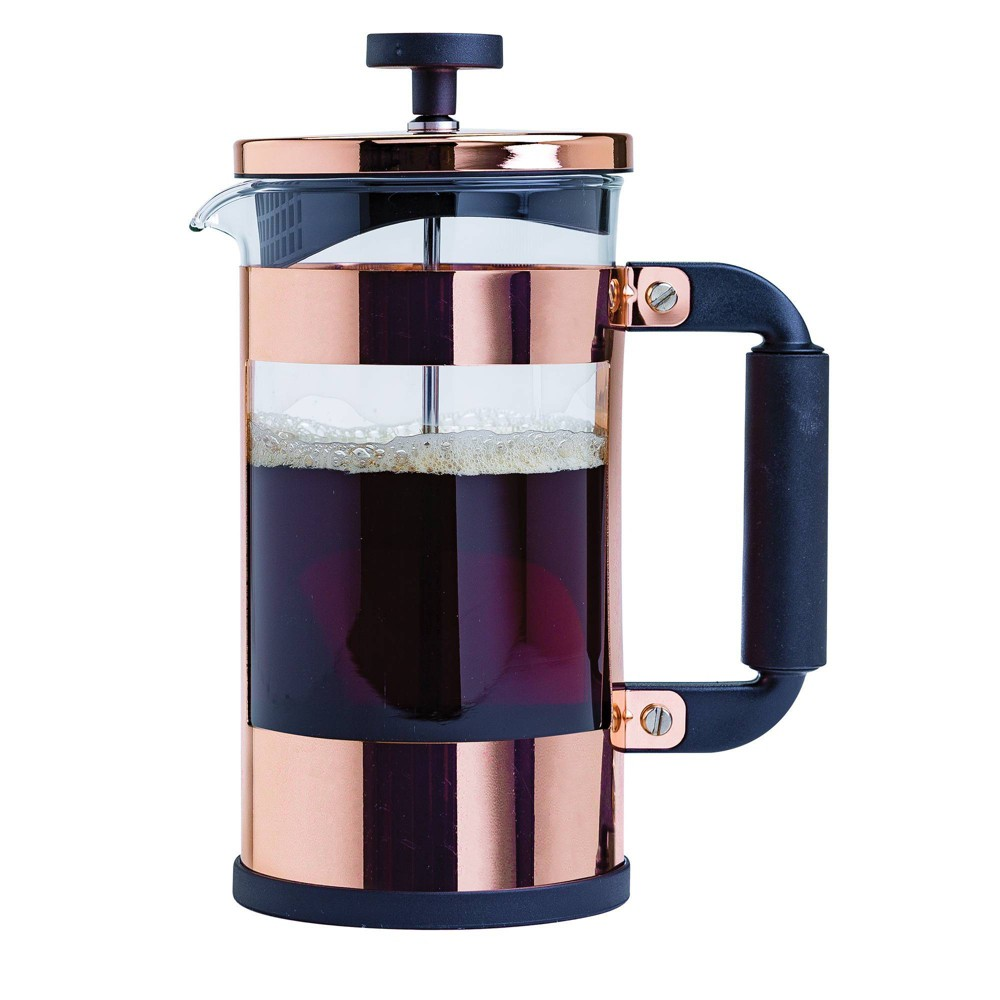 Image of Primula Copper Coffee French Press, Clear Brown