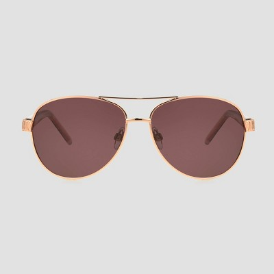 Women's Aviator Sunglasses with Polarized Lenses - A New Day™ Rose Gold