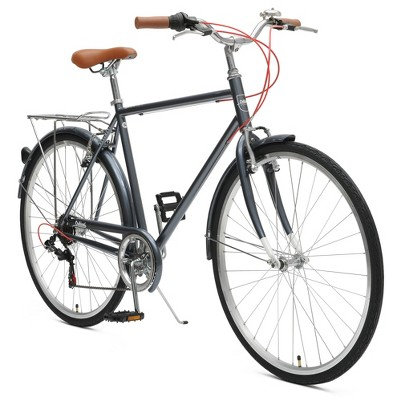 Critical Cycles Mens Beaumont 7-speed City Bike -58cm -Charcoal