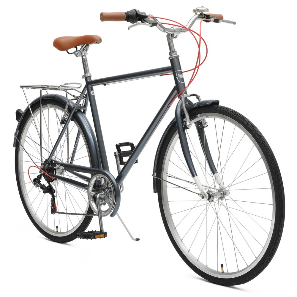 Critical Cycles Mens Beaumont 7-speed City Bike -54cm -Dark Silver, Dark Silver