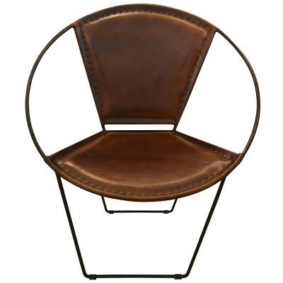 Hoop Lounge Chair Brown - Stylecraft