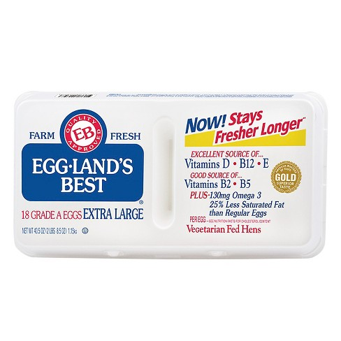 Eggland's Best Grade A Extra Large Eggs - 18ct - image 1 of 1