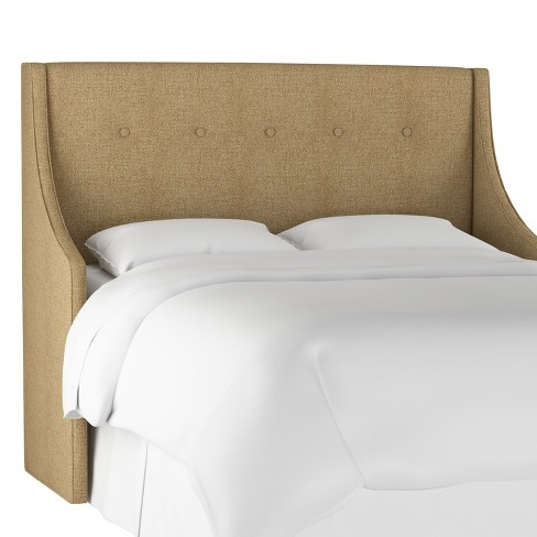 Button Tufted Wingback Headboard - Threshold™ - image 1 of 5