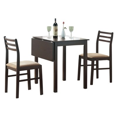 Dining Set   3 Piece   Drop Leaf Table   Cappuccino   EveryRoom