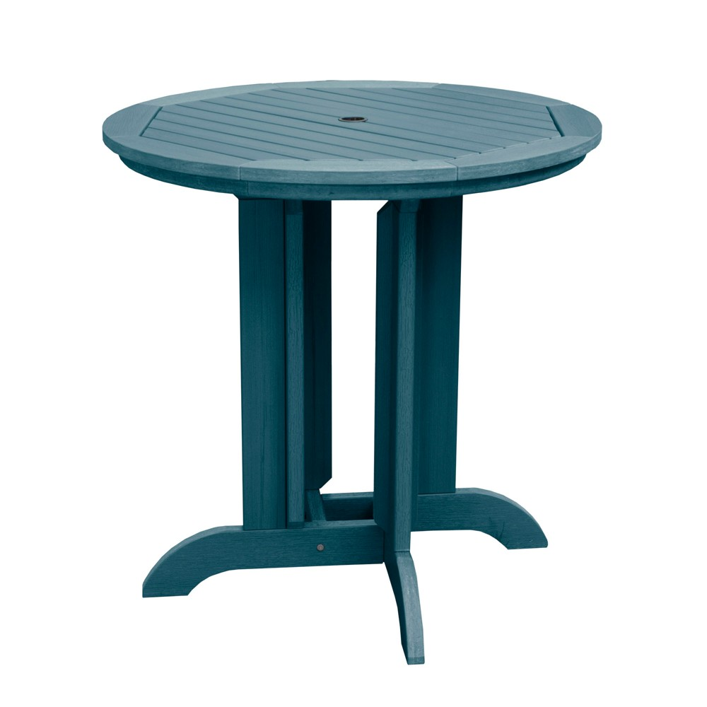 Round 36 Counter Dining Table Nantucket Blue - Highwood