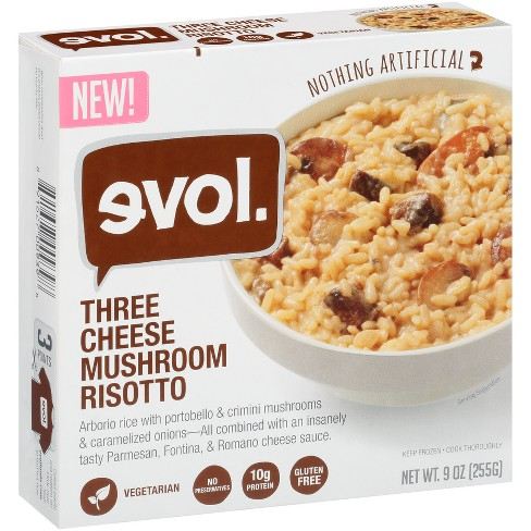 Evol Three Frozen Cheese Mushroom Risotto Prepared Meals - 9oz - image 1 of 1