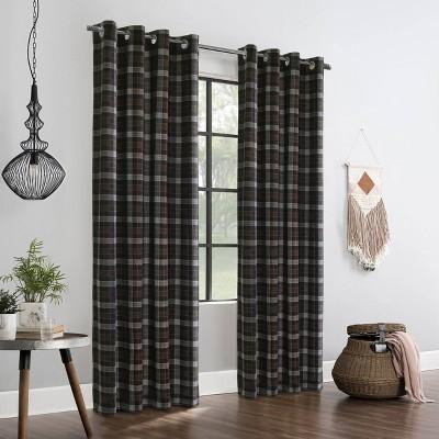 Murano Room Darkening Grommet Curtain Panel Red/White - Thermalogic