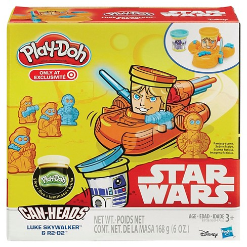Play-Doh Star Wars Luke Skywalker and R2-D2 Can-Heads Plus Glow Compound - image 1 of 2