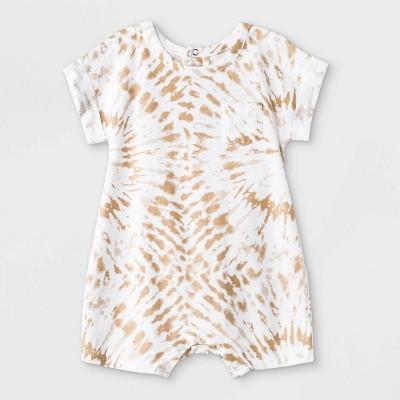 Grayson Mini Baby Boys' Tie-Dye Short Sleeve Romper - Brown 6-9M