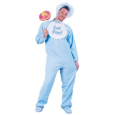 Adult Baby Costume Blue One Size