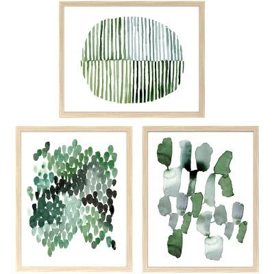Straight Fit 3pk Decorative Wall Art Set Emerald - 16 x20  - Project 62™