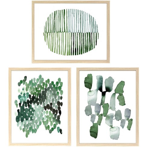 "Straight Fit 3pk Decorative Wall Art Set Emerald - 16""x20"" - Project 62™ - image 1 of 4"