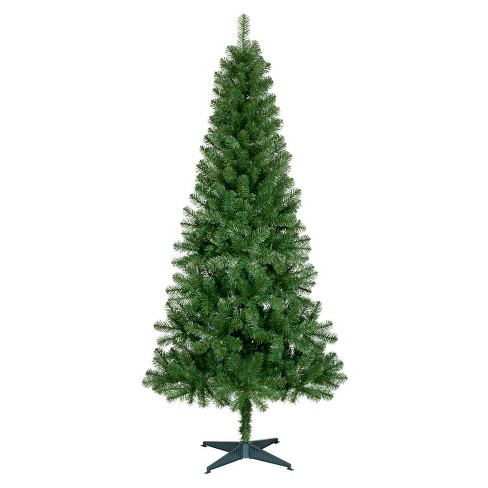 6ft Unlit Slim Artificial Christmas Tree Alberta Spruce Wonder
