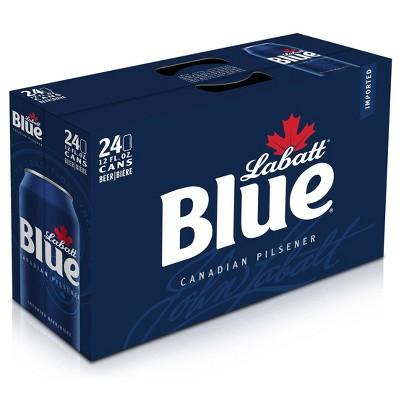 Labatt Blue Canadian Pilsener Beer - 24pk/12 fl oz Cans