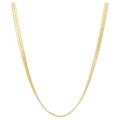 Tiara Sterling Silver Herringbone Chain Necklace