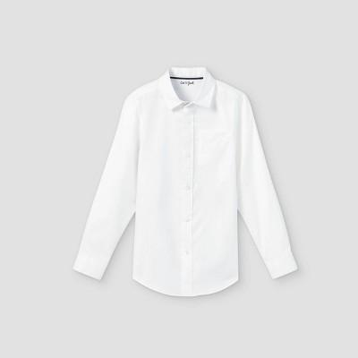 Boys' Button-Down Stretch Oxford Long Sleeve Shirt - Cat & Jack™ White