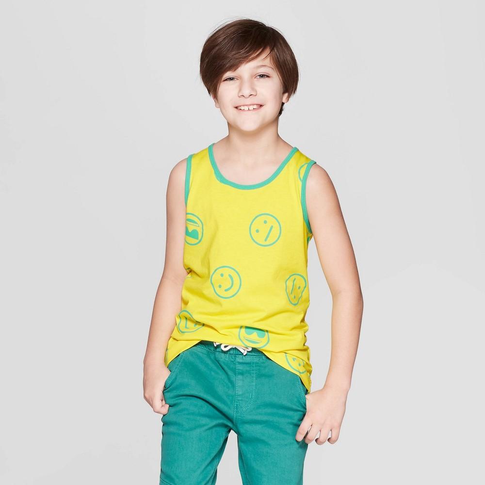 Image of Boys' Emoji Graphic Tank Top - Cat & Jack Yellow XXL, Boy's