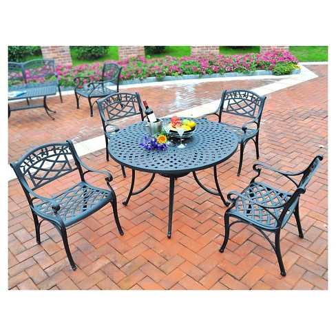 Crosley Sedona 42 Five Piece Cast Aluminum Outdoor Dining Set With