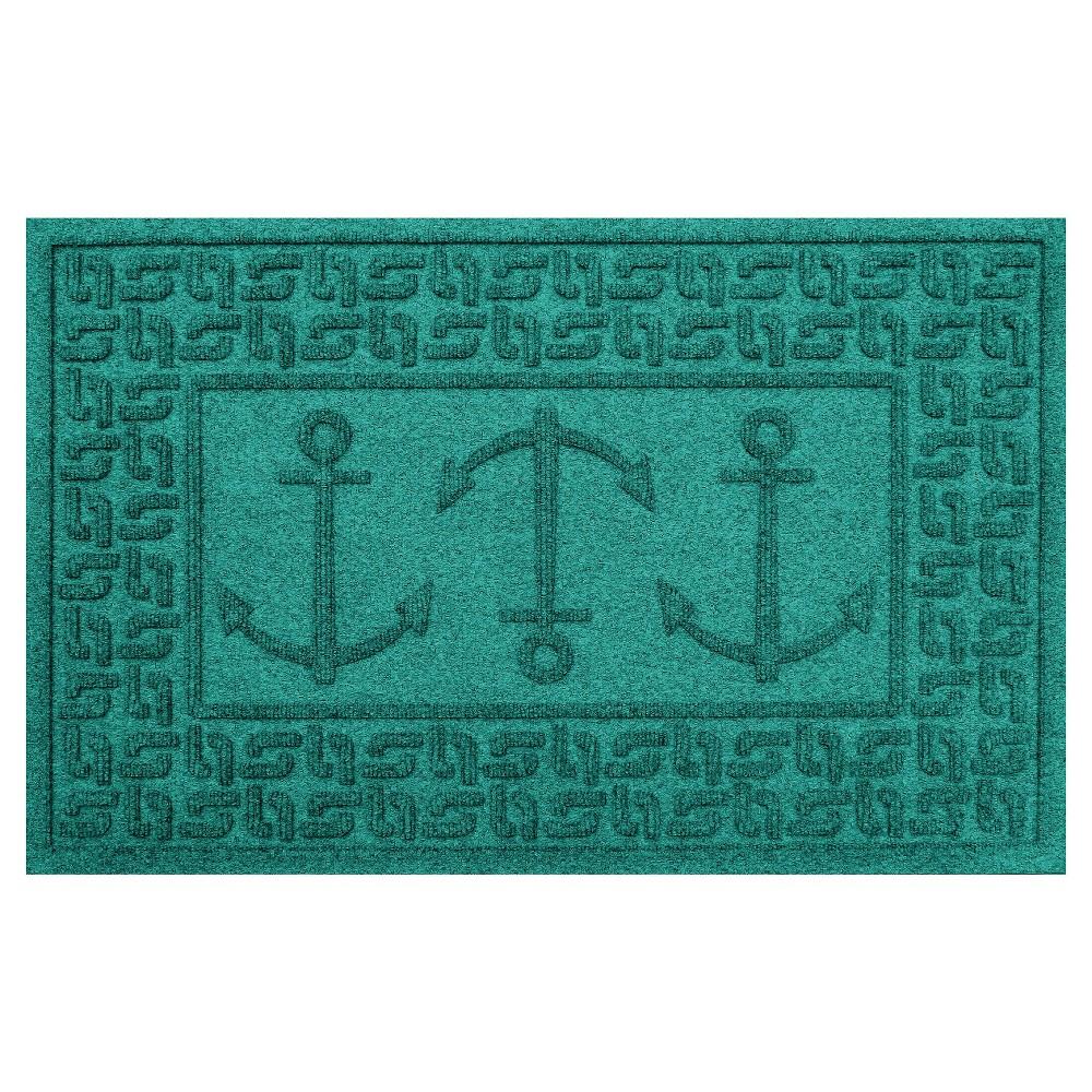 Aquamarine Solid Doormat - (2'X3') - Bungalow Flooring
