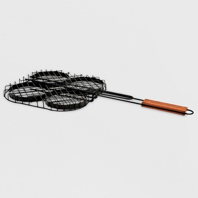 Charcoal Companion® Non-Stick Hamburger Grilling Basket