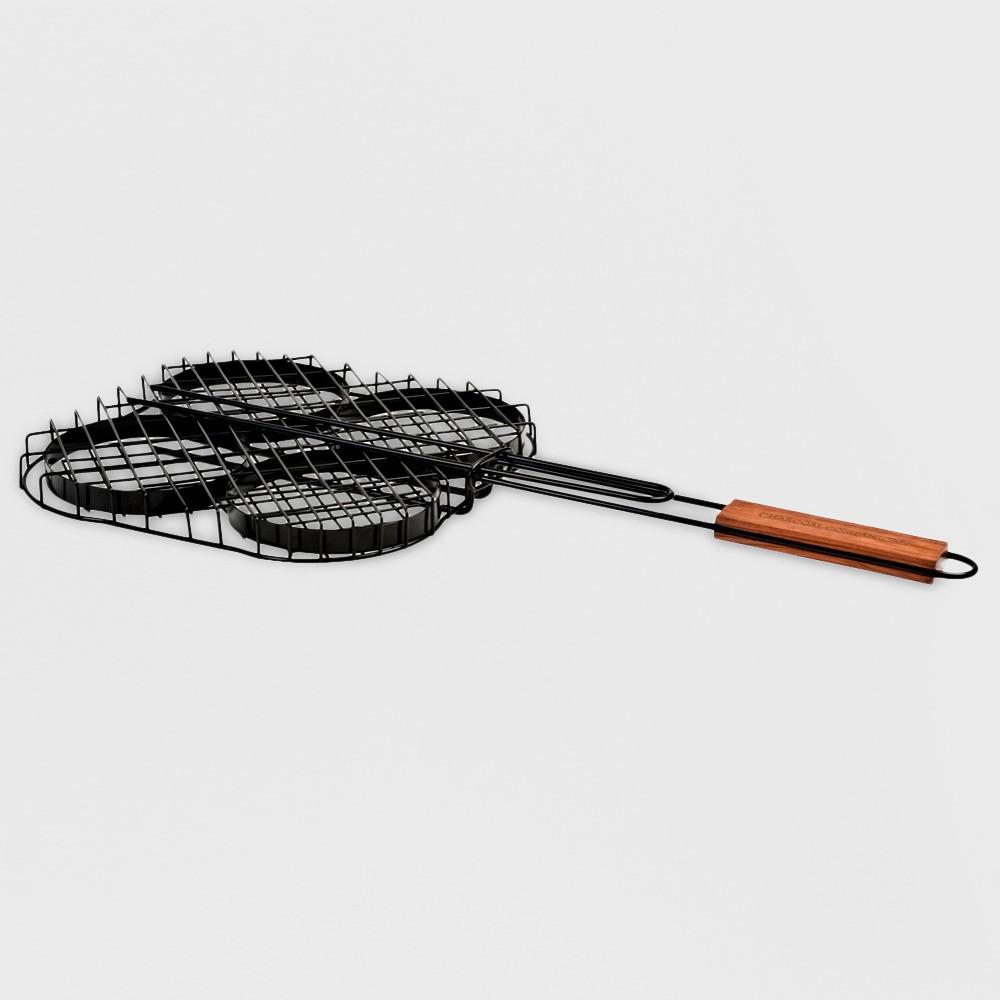 Image of Charcoal Companion Non-Stick Hamburger Grilling Basket
