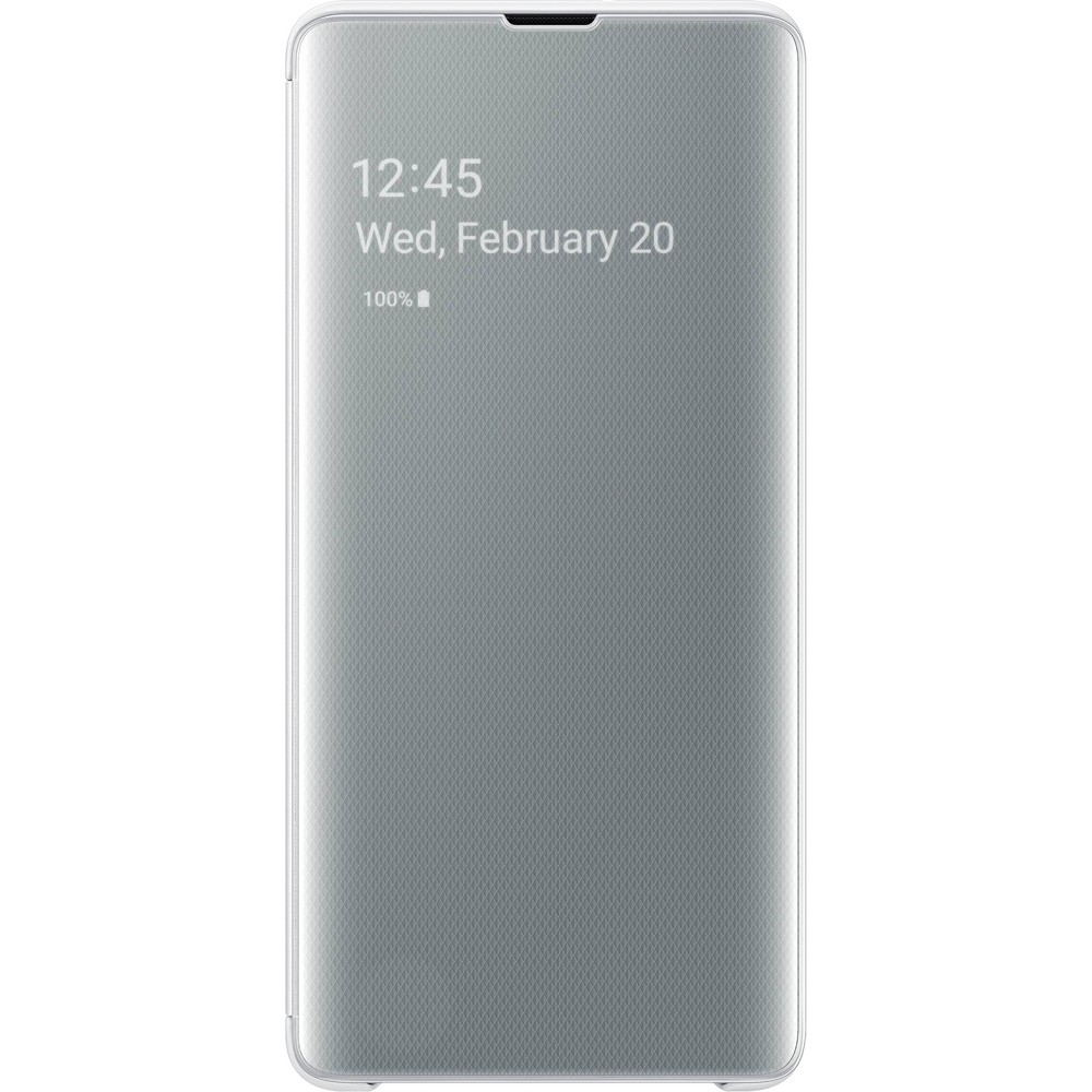 Samsung Galaxy S10+ S-View Flip Cover Case - White