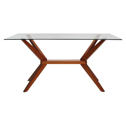 Greenwich Dining Table with Glass Top - Aeon - image 1 of 1