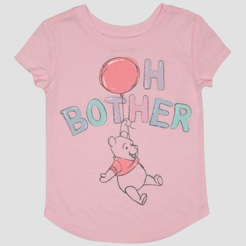 Toddler Girls' Winnie the Pooh Short Sleeve T-Shirt - Pink - image 1 of 2