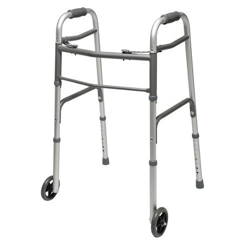 Lumex Everyday Dual Release Walkers with Wheels - Silver and Gray - image 1 of 1