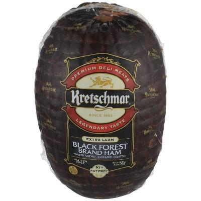 Kretschmar Extra Lean Black Forest Brand Ham - Deli Fresh Sliced - price per lb