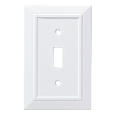 Franklin Brass Classic Architecture Single Switch Wall Plate White