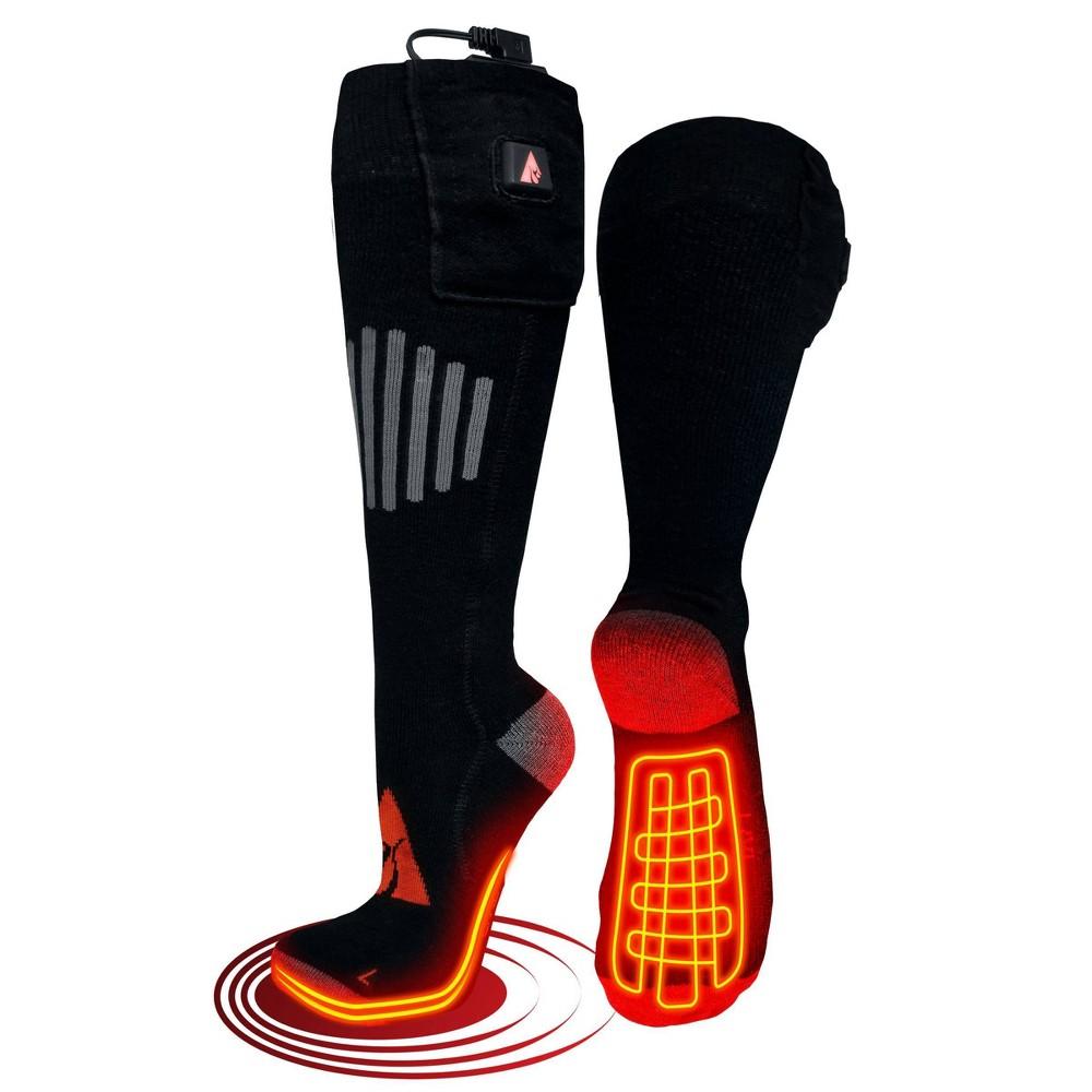 Image of ActionHeat 5V Battery Heated Wool Socks - Black XXL