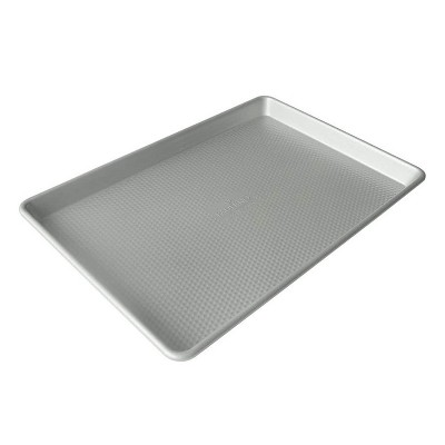 Paderno 18 by 13 Inch Large PTFE Free Nonstick Professional Tray Sheet Pan Bakeware for Oven Safe Cookie and Cake Baking and Cooking, Aluminum