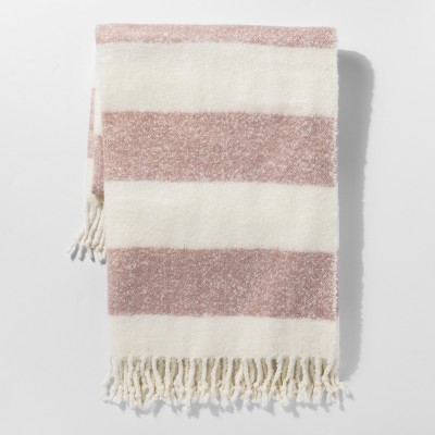 Pink Stripe Faux Mohair Throw Blanket - Project 62™
