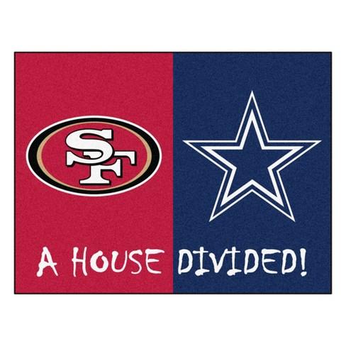044eaf348 NFL Dallas Cowboys San Francisco 49ers House Divided Rug 33.75