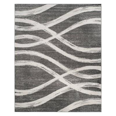 9'X12' Wave Area Rug Charcoal/Ivory - Safavieh