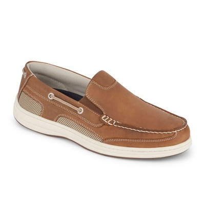 Dockers Mens Tiller Leather Casual Slip-on Loafer Boat Shoe with NeverWet