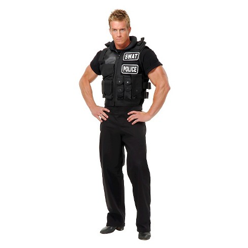 Men's SWAT Team Vest Costume Small - image 1 of 1