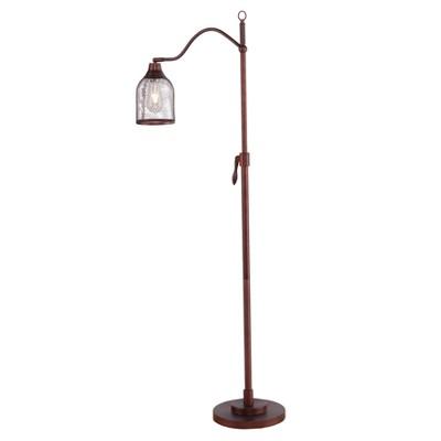 "58"" Rhiannon Floor Lamp Brushed Bronze (Includes CFL Light Bulb) - Aiden Lane"
