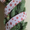 "Northlight Club Pack of 12 White and Red Snowflakes Burlap Wired Christmas Craft Ribbon Spools - 2.5"" x 12 Yards - image 3 of 3"