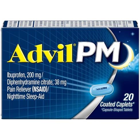 Advil PM Pain Reliever & Nighttime Sleep Aid Caplets - Ibuprofen (NSAID)/Diphenhydramine - image 1 of 4