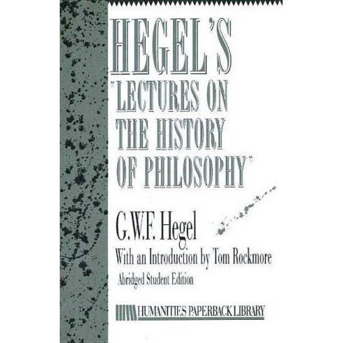 Hegel's Lectures on History of Philosophy - by  Georg Wilhelm Friedr Hegel (Counterpack,  Empty) - image 1 of 1