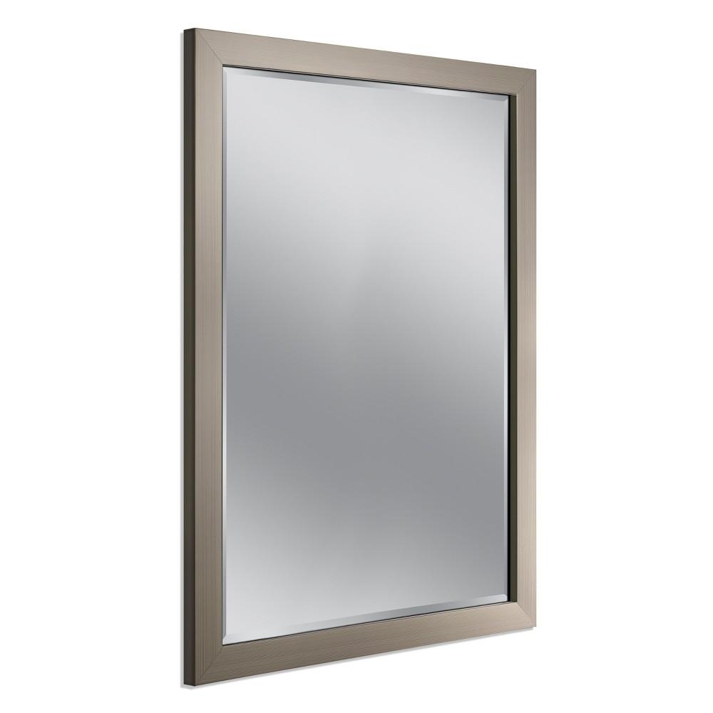 """Image of """"39""""""""x34"""""""" Modern Mirror Brushed Nickel - Head West"""""""