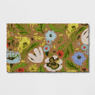 1'6 X2'6 /18 X30  Floral Doormat Natural Green - Opalhouse™