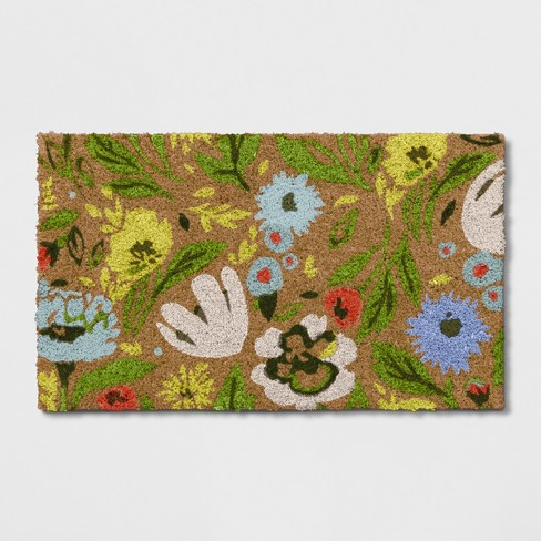 """1'6""""X2'6""""/18""""X30"""" Floral Doormat Natural Green - Opalhouse™ - image 1 of 5"""