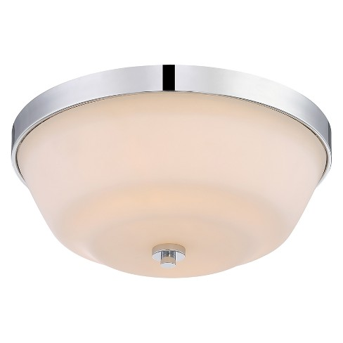 Aurora Lighting 2 Light Polished Flush Mount Ceiling Lights Nickel - image 1 of 1